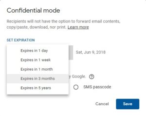 The e-mail sent to Gmail will be automatically deleted, follow these steps